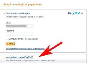 Non hai un conto PayPal